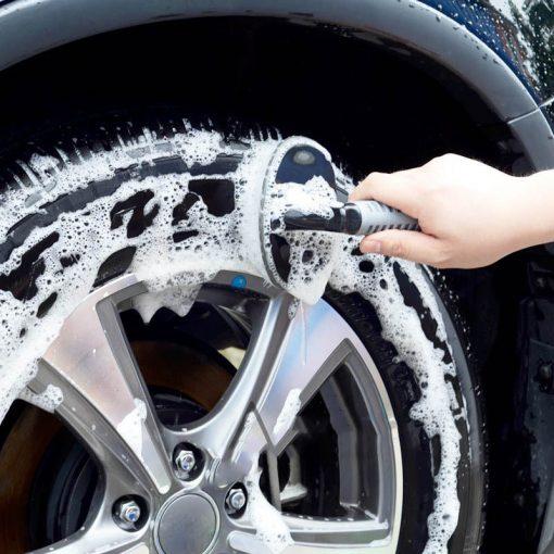 Bàn chải cọ vệ sinh lốp xe hình chữ T 17x13x8cm
