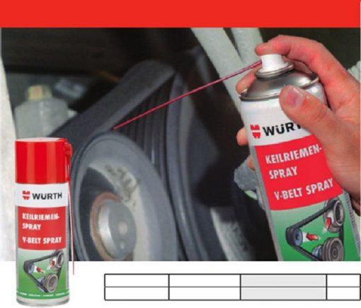 Chai xịt bảo dưỡng dây curoa wurth v-belt spray 400ml