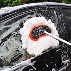 Chổi lông mềm rửa xe ô tô cán dài CWLH 125cm