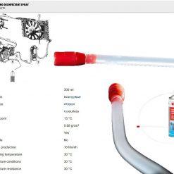 Chai xịt vệ sinh dàn lạnh ô tô Wurth Air conditioning disinfectant spray 089376410 300ml