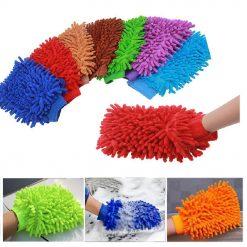 Găng tay rửa xe chuyên dụng sợi microfiber san hô (17cm x 22cm)