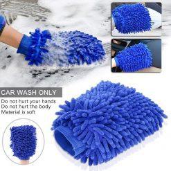 Găng tay rửa xe xúc tu san hô sợi ngắn 17cm x 22cm