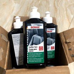 Kem bảo dưỡng ghế da xe ô tô Sonax Leather care 250ml
