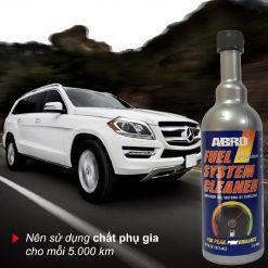 Vệ sinh động cơ xăng Abro Fuel System Cleaner 473ml