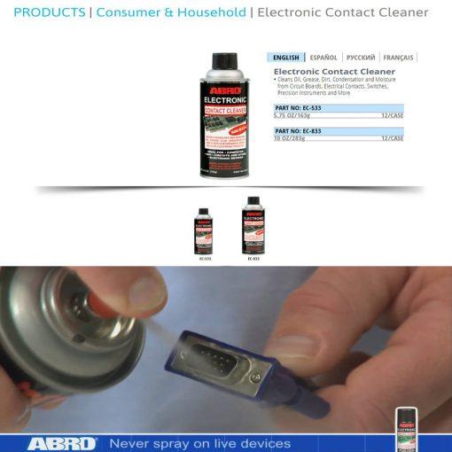 Vệ sinh mạch điện Abro EC-533 Electronic Contact Cleaner