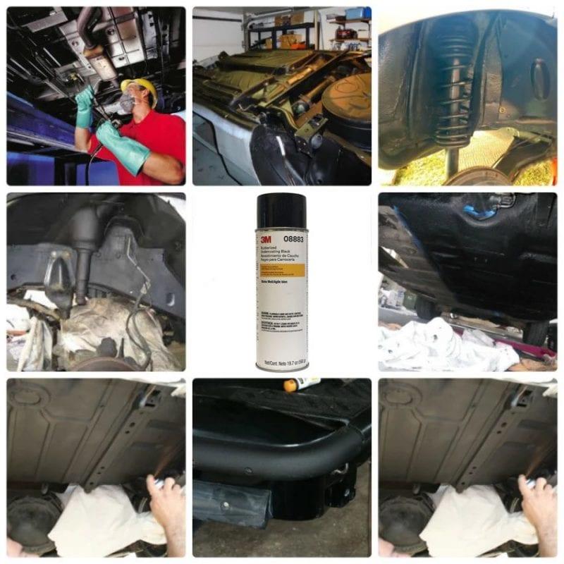 Chai xịt sơn phủ gầm ô tô 3M 08883 Rubberized Undercoating Black 560g