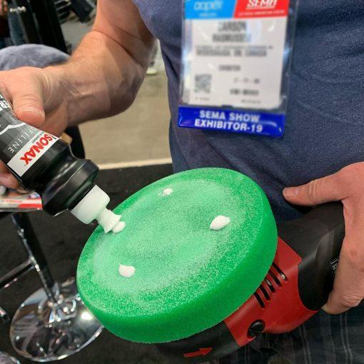 Phớt đánh bóng xanh Sonax 493000 Polishing sponge green 160 (medium)