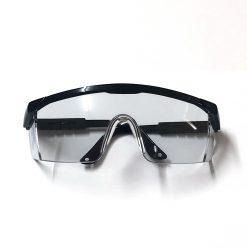 Kính bảo hộ chống bụi HF110 gọng đen mặt trắng trong