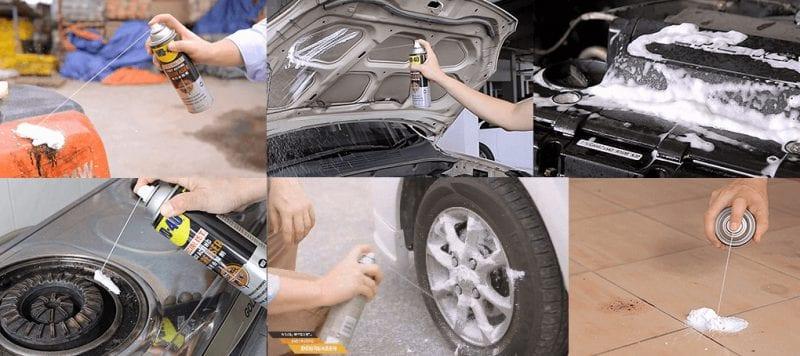 Chai xịt tẩy nhờn WD-40 Fact Acting Degreaser loại bỏ nhanh chóng dầu mỡ, dầu, bụi bẩn bám trên bề mặt động cơ, khoang máy xe ô tô và máy móc công nghiệp.