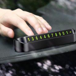Thẻ gắn số điện thoại để taplo xe ô tô (thẻ đậu xe ô tô gắn số điện thoại)