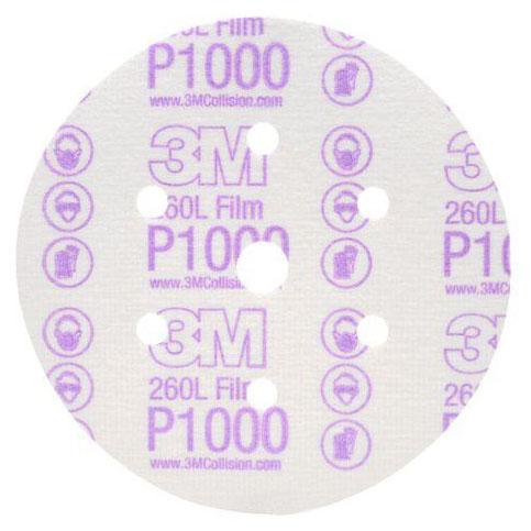 Giấy nhám 3M P1000 260L đĩa tròn 6 in 01069