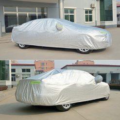 Bạt che phủ xe ô tô tráng nhôm cách nhiệt cao cấp, dùng cho xe 4 bánh.