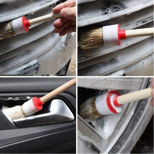 Cây cọ lông heo vệ sinh khoang máy vành mâm lazang xe ô tô
