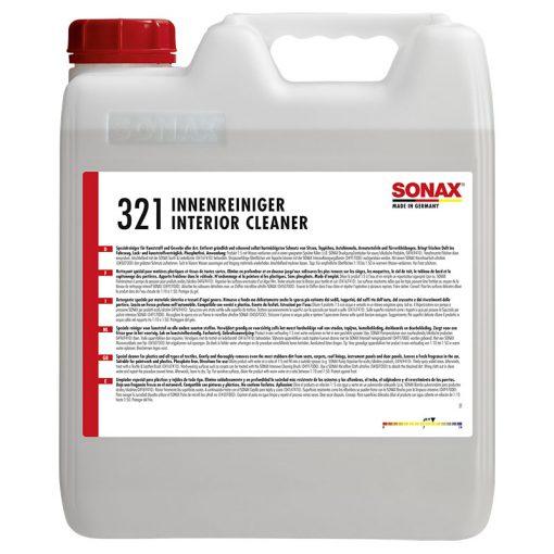 Dung dịch vệ sinh nội thất ô tô Sonax 321 Interior Cleaner 10 lít